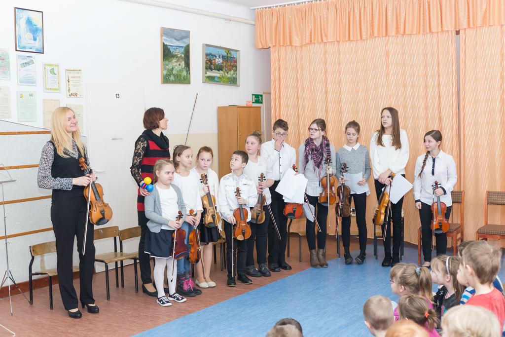 Goście ze szkoły muzycznej w Puńsku